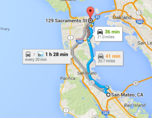 Dental Implants - Directions from San Mateo, California